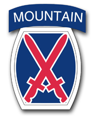 "Army 10th Infantry 5.5""  Patch Vinyl Transfer Decal"