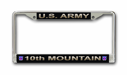 Army 10th Mountain Division License Plate Frame