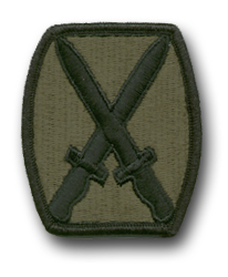 Army '10th Mountain Division' Subdued Military Patch