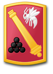 """Army 113th Field Artillery Brigade 11.75"""" Patch Decal"""