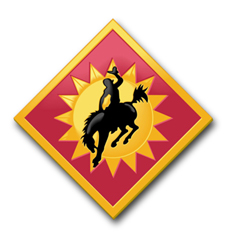 "Army 115th Field Artillary Brigade Wyoming 3.8"" Patch Decal"