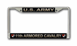 Army 11th Armored Cavalry License Plate Frame