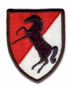 Army 11th Armored Cavalry Military Patch