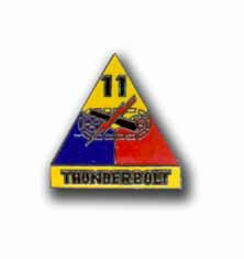 Army 11th Armored Division Thunderpoet Military Pin