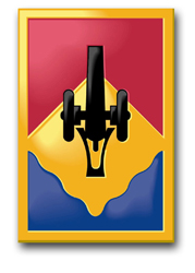 """Army 135th Field Artillery Brigade 10"""" Patch Decal"""