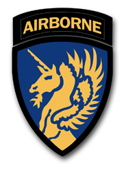 """Army 13th Airborne WWII 11.75"""" Patch Vinyl Transfer Decal"""
