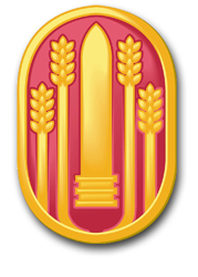 """Army 147th Field Artillery Brigade 5.5"""" Patch Decal"""