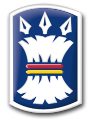 """Army 157th Infantry Brigade 3.8"""" Patch Decal"""