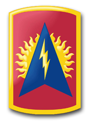 "Army 164th Air Defense Artillery Brigade 3.8"" Patch Decal"