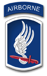 "Army 173rd Airborne Brigade 3.8"" Patch Decal"