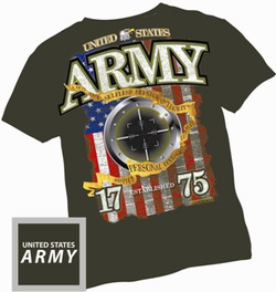 Army 1775 Olive Drab Green T Shirt