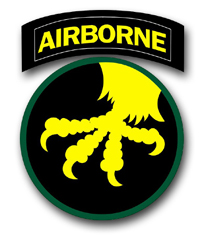 """Army 17th Airborne WWII Patch 10"""" Vinyl Transfer Decal"""