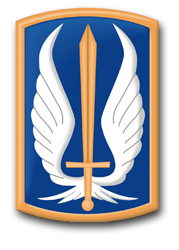 """Army 17th Aviation Brigade 3.8"""" Patch Decal"""