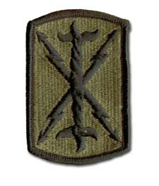 Army 17th Field Artillery Brigade Subdued Military Patch