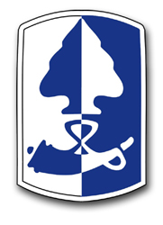 """Army 187th Infantry Brigade 11.75"""" Patch Decal"""