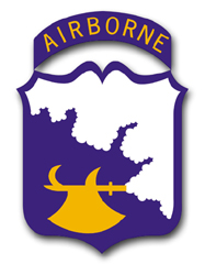 """Army 18th Airborne WWII 11.75"""" Patch Vinyl Transfer Decal"""
