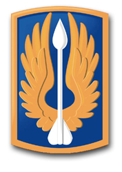 """Army 18th Aviation Brigade 5.5"""" Patch Decal"""