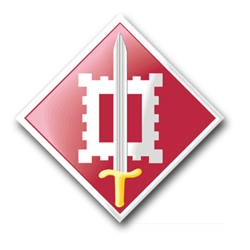 """Army 18th Engineer Brigade 8"""" Patch Decal"""