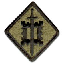 Army 18th Engineering Brigade Subdued Military Patch