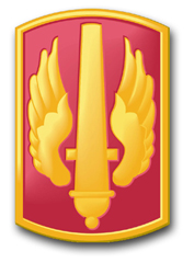 """Army 18th Field Artillery Brigade 10"""" Patch Decal"""