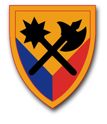 "Army 194th Armor Brigade 3.8"" Patch Decal"