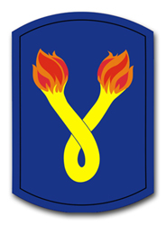 "Army 196th Infantry Brigade 10"" Patch Decal"