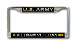 Army 4th Infantry Brigade Vietnam Veteran License Plate Frame