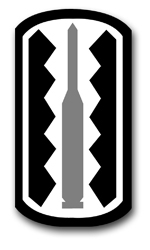 """Army 197th Infantry Brigade 3.8"""" Patch Decal"""