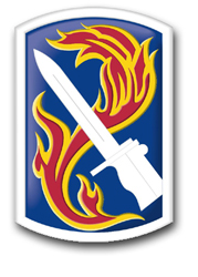 "Army 198th Infantry Brigade 10"" Patch Decal"