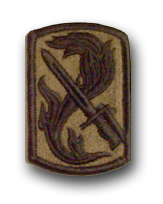 Army 198th Infantry Brigade Subdued Military Patch