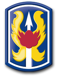 "Army 199th Infantry Brigade 10"" Patch Decal"