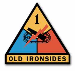 """Army 1st Armored 8"""" Patch Vinyl Transfer Decal"""