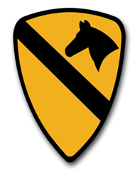 """Army 1st Cavalry 5.5"""" Patch Vinyl Transfer Decal"""