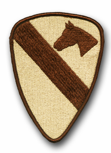 Army 1st Cavalry Desert Military Patch