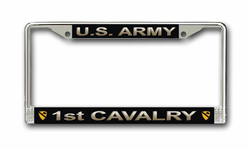 Army 1st Cavalry Division License Plate Frame