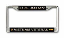 Army 1st Cavalry Division Vietnam Veteran License Plate Frame