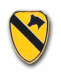 Army 1st Cavalry Military Lapel Pin