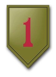 "Army 1st Infantry 3.8"" Patch Vinyl Transfer Decal"