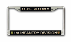 Army 1st Infantry Division License Plate Frame