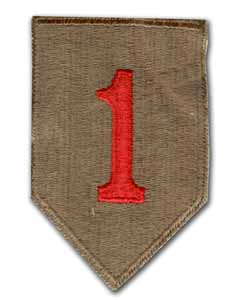 Army 1st Infantry Division Subdued Military Patch (cut edge)