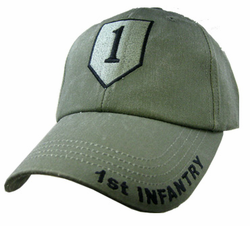 Army 1st Infantry OD Green Cap