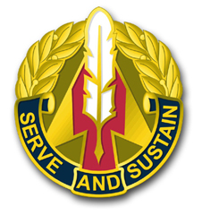 """Army 1st Personnel Group Unit Crest 3.8"""" Vinyl Transfer Decal"""