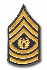 Army 1st Sergeant Rank Chevron (Pair) Military Patch