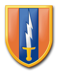 """Army 1st Signal Brigade 11.75"""" Patch Decal"""