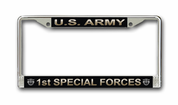 Army 1st Special Forces License Plate Frame