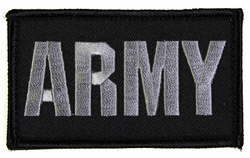 ARMY 2 x 3 Inch Black Hook and Loop Patch