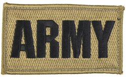 ARMY 2 x 3 Inch Coyote Brown Hook and Loop Patch