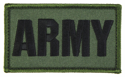 ARMY 2 x 3 Inch OD Green Hook and Loop Patch