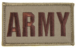 ARMY 2 x 3 Inch Tan Hook and Loop Patch