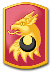 "Army 209th Field Artillery Brigade 10"" Patch Decal"